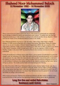 Shaheed Noor Mohd Baloch