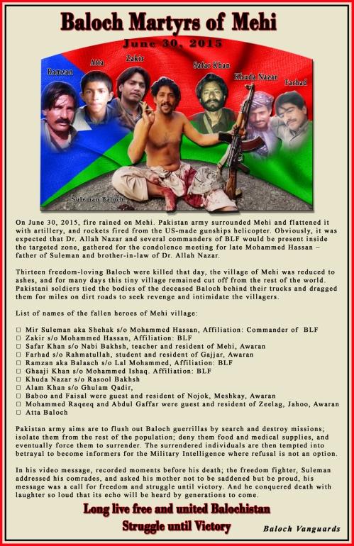 Baloch Martrys of Mehi