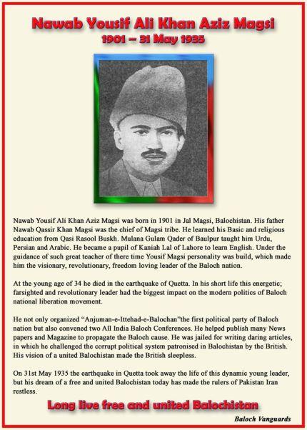 May 31: Nawab Yousuf Aziz Magsi