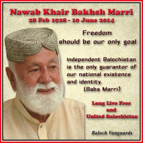 Nawab Khair Bakhsh Marri poster