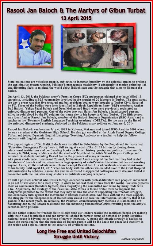 Rasool Jan and Martyrs of Gibun Turbat
