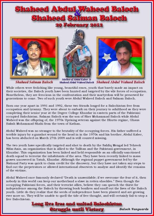 Shaheed Abdul Waheed Baloch & Shaheed Salman Baloch