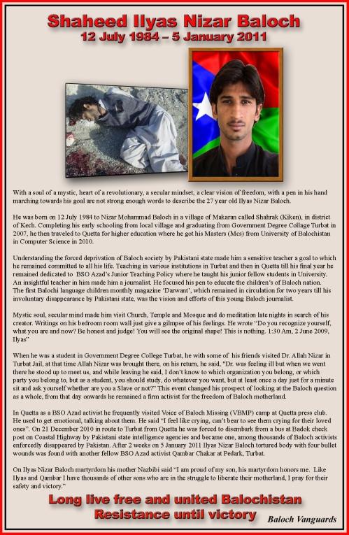 Shaheed Ilyas Nizar Baloch
