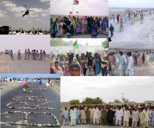 operation and protest in balochistan