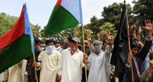 Baloch National Front members protest. – AFP (File Photo)