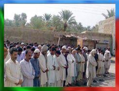 Funeral pray of Shaheed Rasool Baksh Mengal