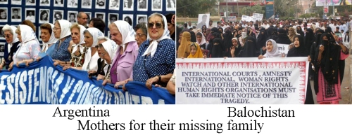Mothers for their missing family