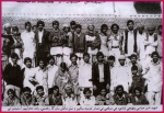 Shaheed Nazir Abbasi and Hameeda on their  wedding with friends