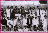 Shaheed Nazir Abbasi and Hameeda on their wedding with friends