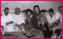 Shaheed Nazir Abbasi daughter Zarka with family on her birthday