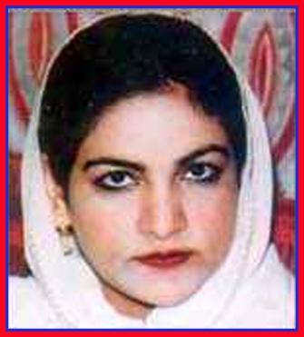 Zarka daughter of Shaheed Nazir Abbasi