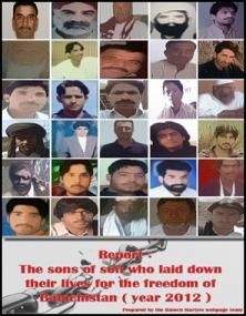 Baloch Martrys 2012