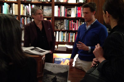 Willem Marx, right, launched his book 'Balochistan at a Crossroads' on March 13 in New York City. (