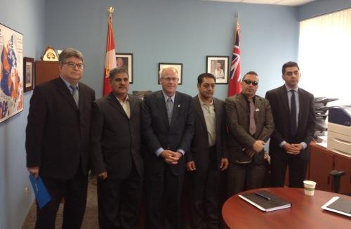 Group photo with Canadain MP Bob Dechert