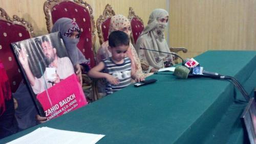 BSO-Azaad-Chairman-Zahid-Baloch-Family-press-conference-islamabad