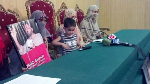 BSO-Azaad-Chairman-Zahid-Baloch-Family-press-conference-islamabad