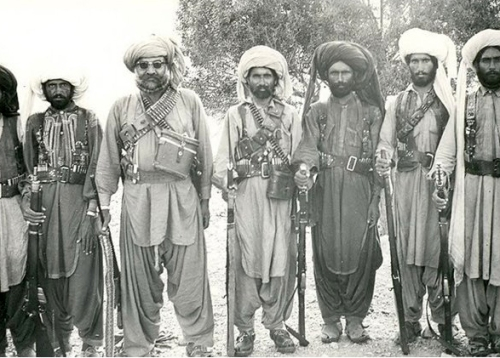 Sher Muhammad Marri with his comrades in an undated photograph