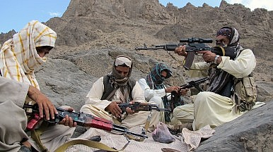 Fighters of the Baloch Liberation Army at an undisclosed location in the Afghanistan-Pakistan border. Karlos Zurutuza