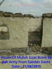 Burned house in Dasht
