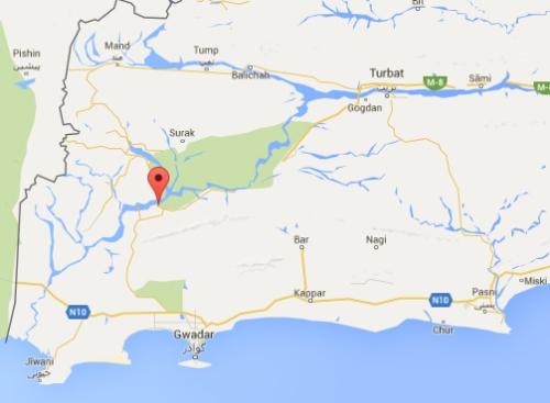Dasht Kech Map