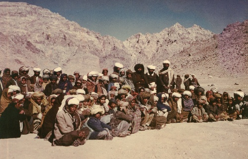 Baloch refugees in Afghanistan. 1978