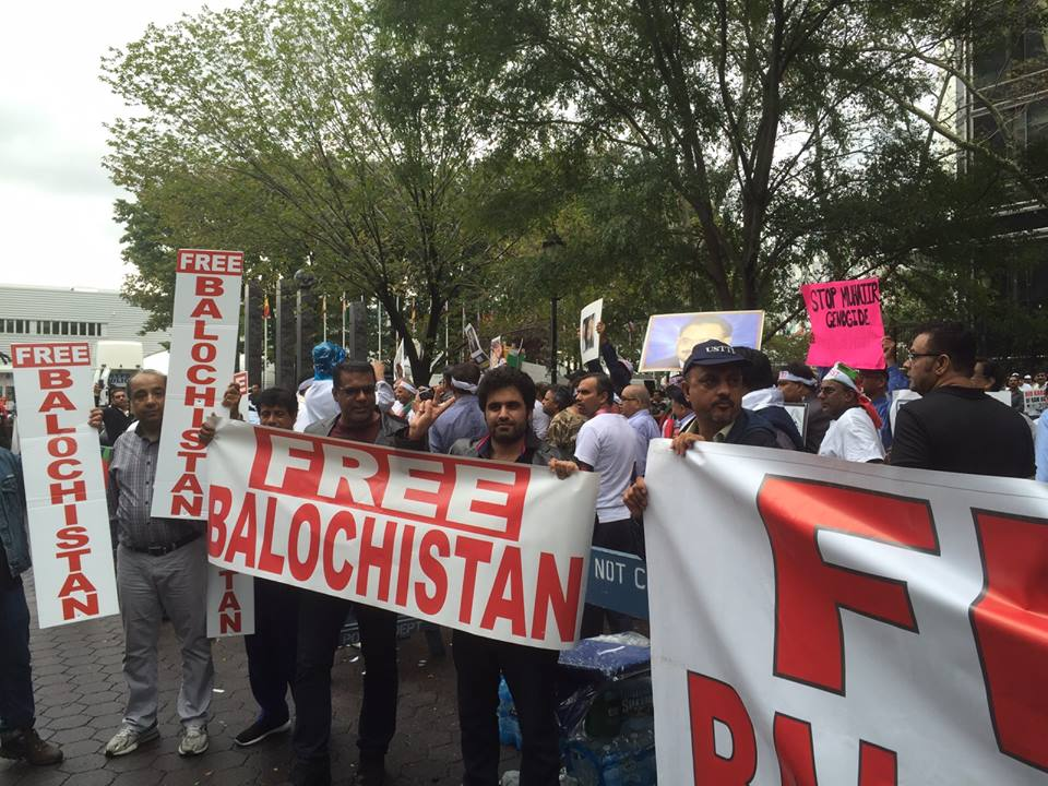 Image result for pics of balochistan protest in front of UN