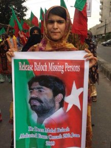 Mehlab Baloch with Dr. Deen poster