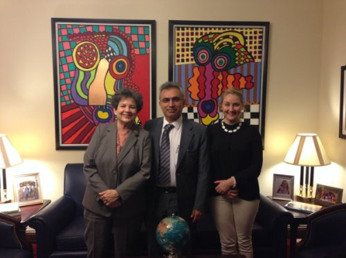 Nasser Boladai with Johanna Green UNPO  visit USA
