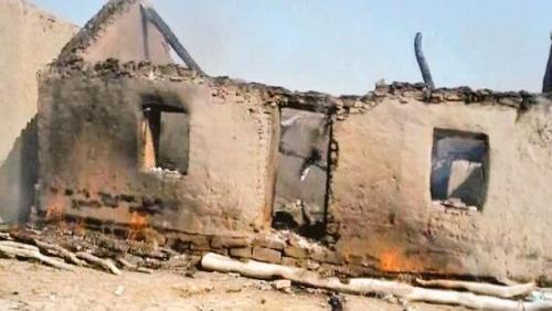 Burned houses of Baloch