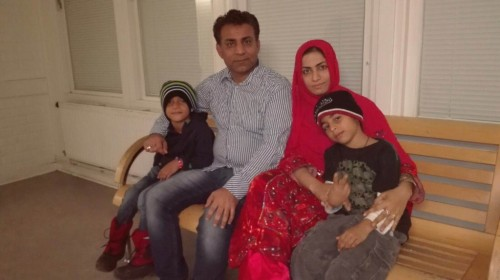 Omera Baloch with her family