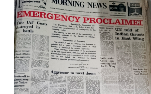 Proclamation of Emergency