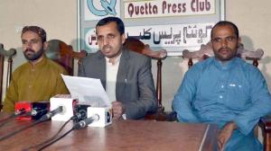 Nasrullah Baloch at Press conferance