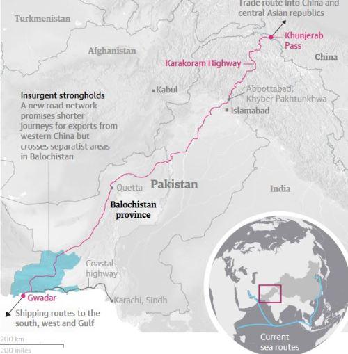 The China-Pakistan economic corridor