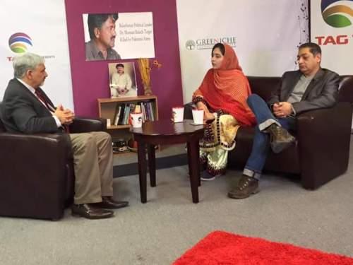 Zaffar Baloch - Karima Baloch with Tahir Gora TAG TV