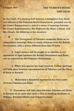 Stand Still Agreement 4 Aug 1947