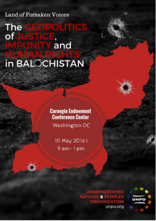 UNPO_USA_Conference on Balochistan