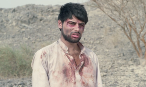 Wadh Motion Pictures Actor Antonio Aakeel playing murdered student activist Nasir Baloch in the film The Line of Freedom, which was banned in Pakistan