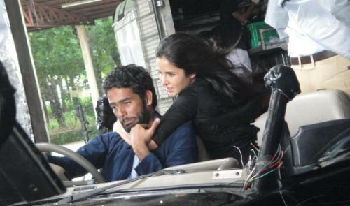 Raees Baluch with Katrina Kaif during a stunt shoot for Ek Tha Tiger, 2012.