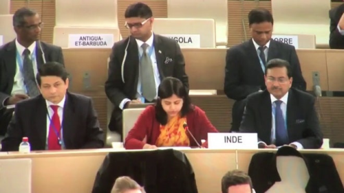 Indian delegation at UNHRC