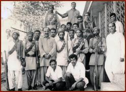 Shaheed Ali Mohammed Mengal & comrades with Mir Rasool Bakhsh Talpur 1971
