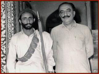 Shaheed Ali Mohammed Mengal with Mir Rasool Bakhsh Talpur 1971