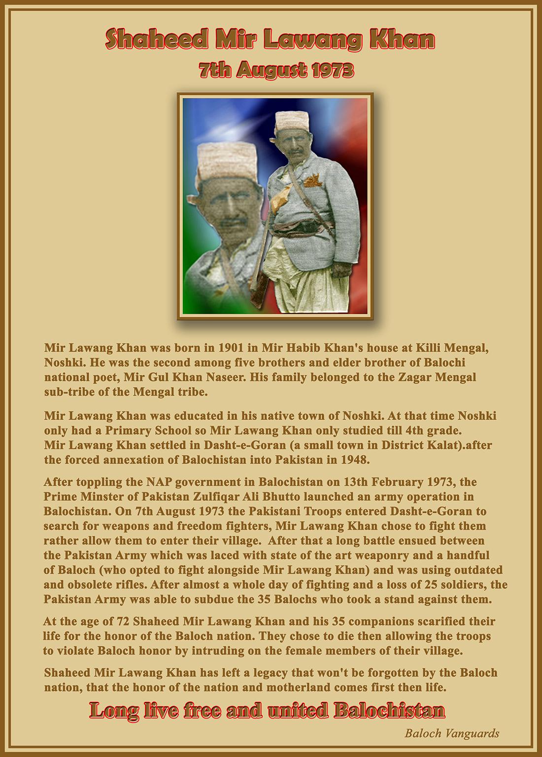 Shaheed Mir Lawang Khan